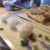Shumai (Shrimp Dumplings) and Thai Banana Tempura from the WashU Wok